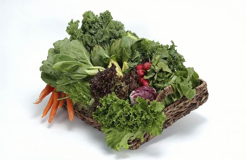 Зеленые листовые овощи для здоровья