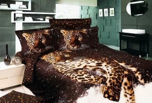 Постельное белье с леопардами